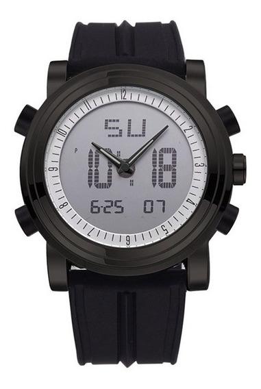 Sinobi 9368 Moda Homens Esporte Relógio Dual Exibição Multif
