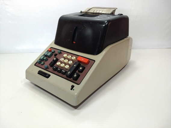 Antiga Calculadora Eletromecânica Olivetti Divisumm 24 Retro