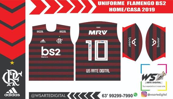 Arte Cdr Camisa Do Flamengo 2019 Para Sublimação Super Bar