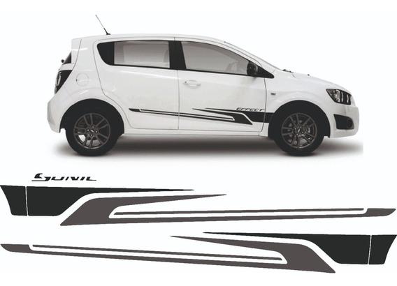 Kit Calcos Chevrolet Sonic Bi Color