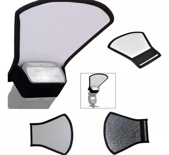 Difusor P/ Flash Externo Universal - Kit 2 Produtos Em 1