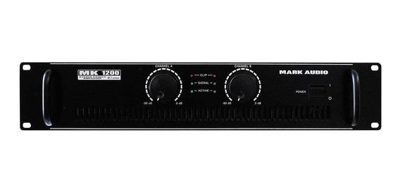 Amplificador De Potência Mark Audio Mk1200 2 Canais 200 Wrms