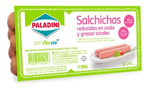 Imagen 1 de 5 de Salchichas Tipo Viena Paladini Reducidas En Sodio X 6un