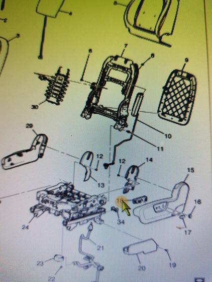 Botão Do Reclinador Bnco Motorista Captiva&malibu Gm12451497