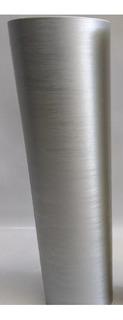 Vinil Adesivo Aço Escovado Prata Inox - 12mx60cm