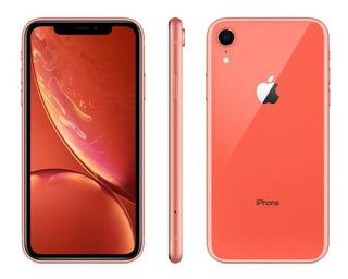 Celular Apple iPhone XR 256gb 3gb Ram 12mp Tela 6.1 Coral