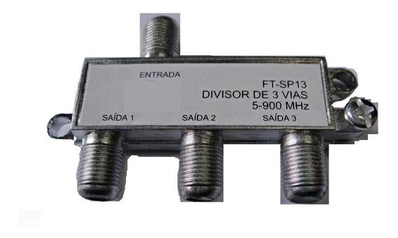 10 Divisor Derivador Antena Digital 3 Vias Tv Uhf Spliter