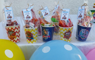 Vasitos Golosineros Ideal Sorpresitas Cumpleaños Infantiles