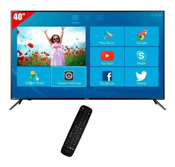 Smart Tv Haier Full Hd 40 Hdmi/usb/vga/conversor Digital