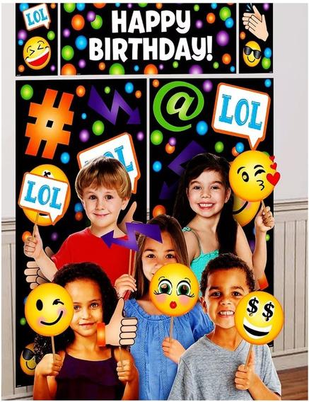 Emoji Letrero Foto Props Fotobooth Mesa Candy Bar Fiesta Dkh