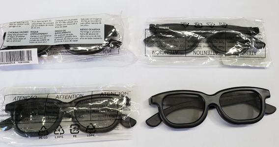 Óculos 3d Original Philips Para Tv Modelo Player - Kit Com 4