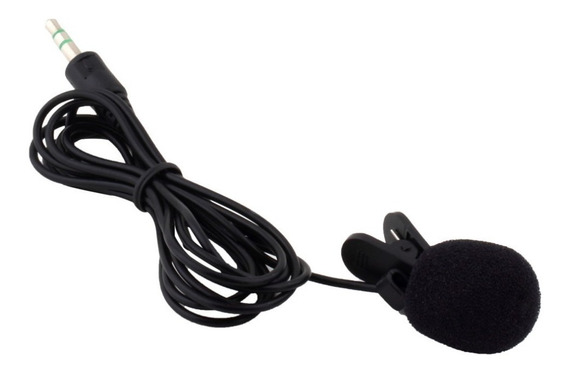 Microfone De Lapela 3,5mm Stéreo Profissional Youtubers