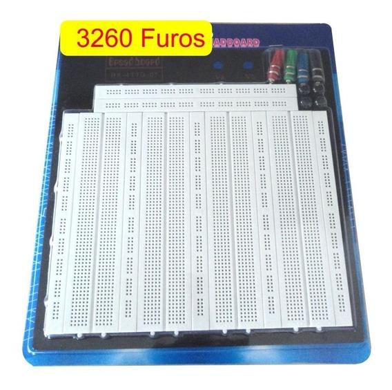 Protoboard 3260 Furos Matriz Contato P/ Microcontroladores