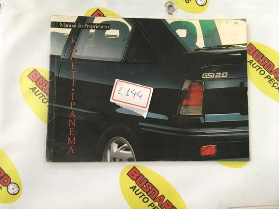 Manual Do Proprietário Chevrolet Kadett Ipanema L144