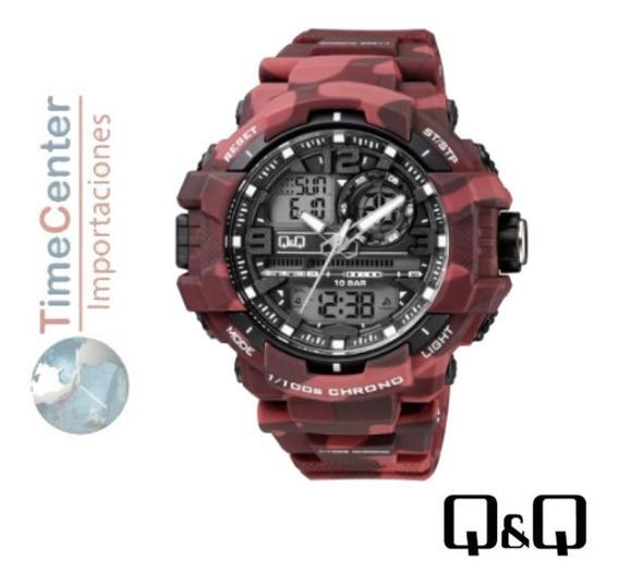 Reloj Q&q, Deportivo G-shock 10 Bar, Hombre, Alarmas,luz