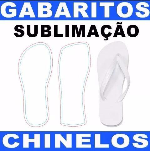 Moldes - Gabarito Chinelo Para Sublimação 19 Ao 44 .cdr