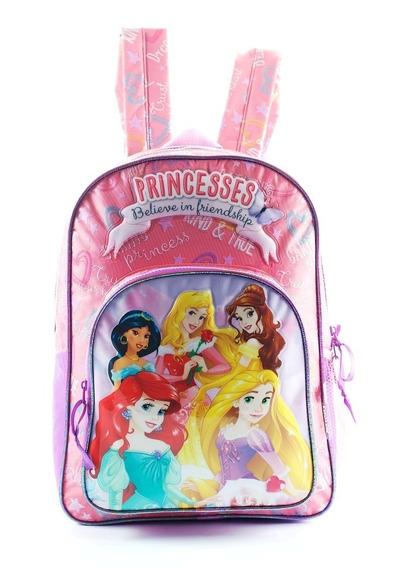 Mochila Disney Princesas De Espalda 16 PuLG Wabro 60252