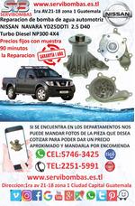 Reparación De Bomba De Agua Nissan Navara Yd25 2.5 D40 Turb