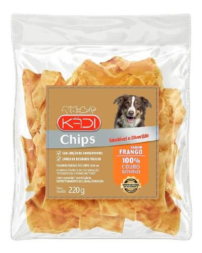 Imagem 1 de 5 de Osso Chips Frango Kadi 8in1) 220g Petisco Cães Couro Bovino