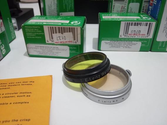 Leica Elmar 5cm F3,5 Filtro Amarelo 1 E Outro Uv