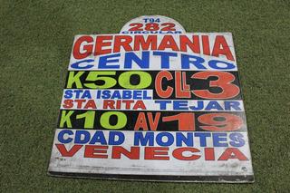 Letrero Tabla Bus Buseta De Bogota