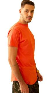 Kit 5 Camisetas Longline Masculina Oversized Varias Cores