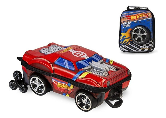 Mochila + Lancheira 3d Max Toy Hot Wheels Night Shifter
