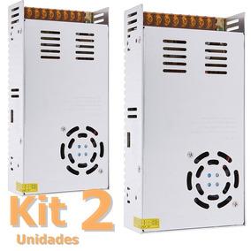 Kit 2 Fonte Chaveada 50a 12v 600w Bivolt 110v/220v