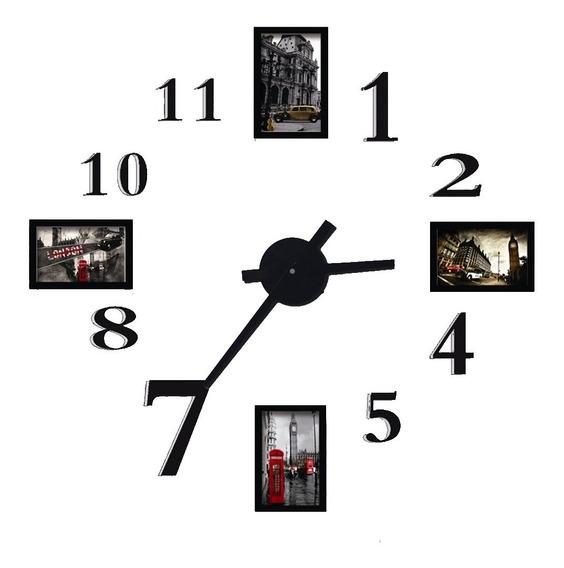 Reloj De Pared Diy Con Porta-retratos