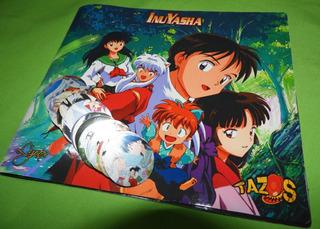 Inuyasha Coleccionador + 35 Tazos Plateados Perlados Anime