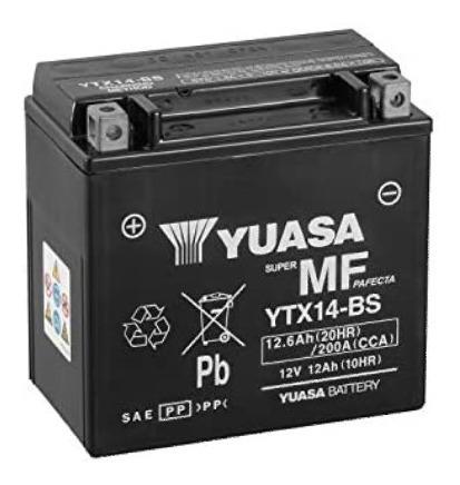 Batería Yuasa Para Motos Ytx14-bs, Envios
