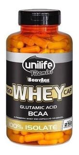 Whey Protein 100% Isolada - Unilife - 250 Cápsulas