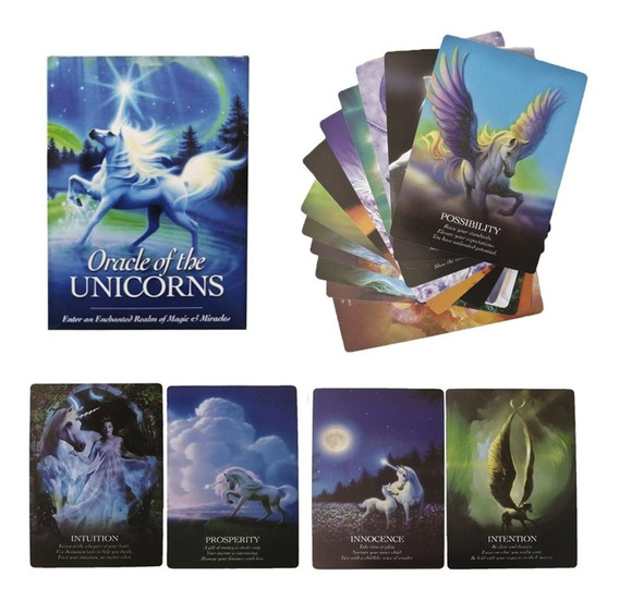 Unicorn Shrine Spanish Beauty Oracle Cards Deck Board Game