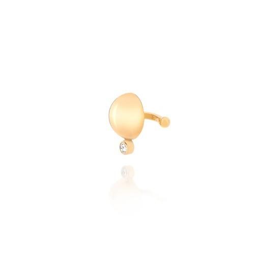 Brinco Piercing Pressão Rommanel 526107 Esfera Com Zirconia
