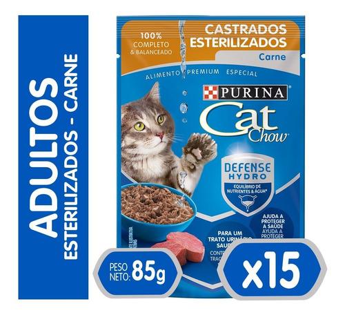Pack Cat Chow® Esterilizados Carne 85 Gr
