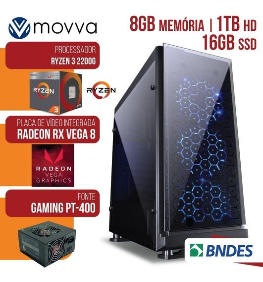 Computador Gamer Amd Ryzen 3 2200g 3.5ghz Mem. 8gb Hd 1tb