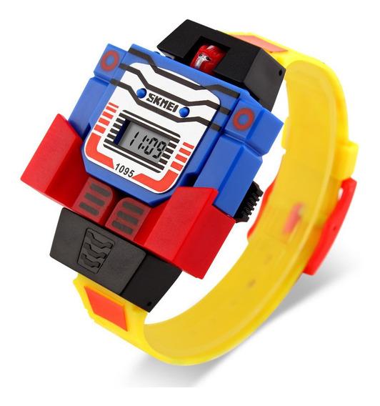 Reloj Skmei 1095 Niños Infantil Moda Robot Transformer