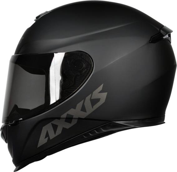 Capacete Axxis Eagle Mono Preto Fosco