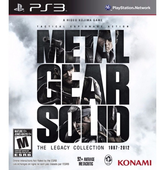 Game Play3 - Metal Gear Solid - Semi-novo Jogo Ps3