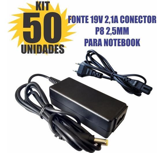 Kit 50 Peças Fonte Carregador 19v 2.1a Notebook Positivo
