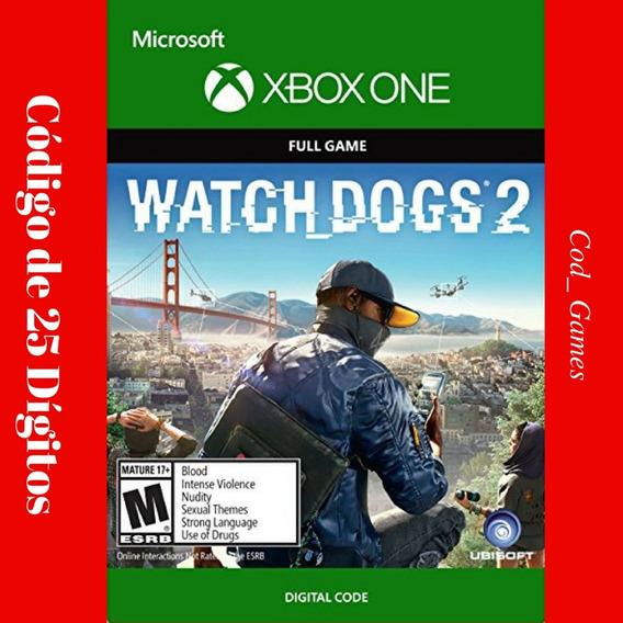Watch Dogs 2 Xbox One Código 25 Dígitos