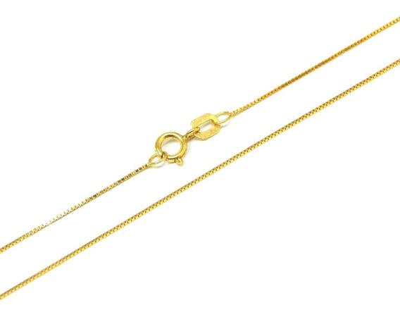Cordão Feminino Veneziana Ouro 18kl 750 40cm