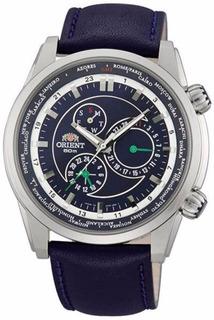 Reloj Orient Cut05003d Hora Mundial World Time Garantia Ofic