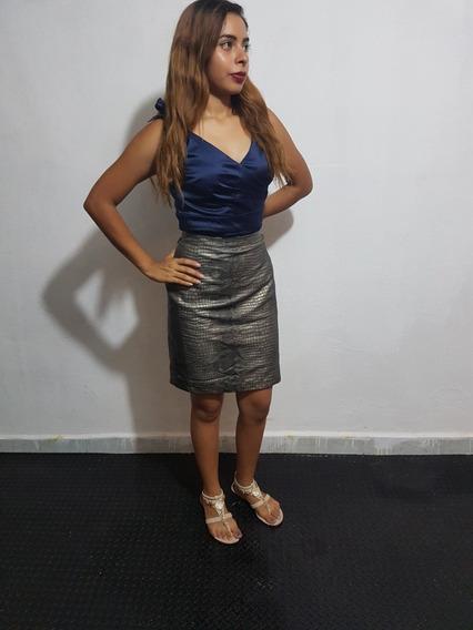 Falda A La Rodilla Elegante