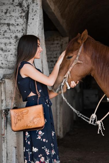 Bolsa 100% Artesanal Douze In Leather Mod 008-maria