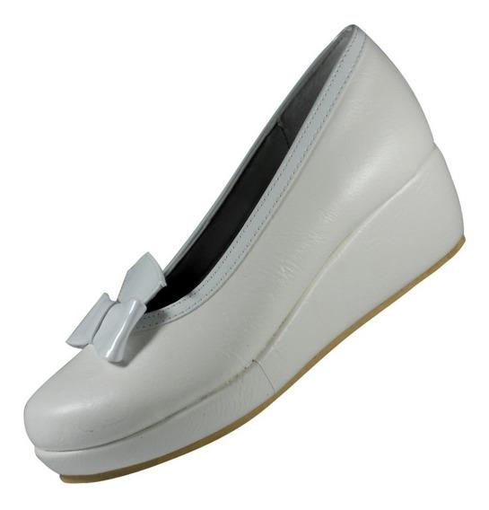 Zapato Canseco Nena Plataforma Comunión Sintético Blanco