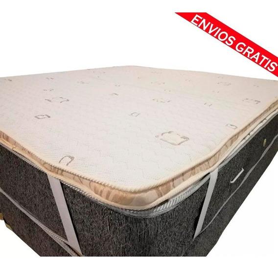 Pillow Top Desmontable Matelaseado 140x190 (no Es Un Colchón