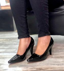 e95f503b Hermosos Tacones De Color Negro - Tacones para Mujer en Mercado ...