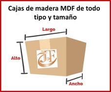 Cajas En Madera Mdf Crudo De Cualquier Tamaño