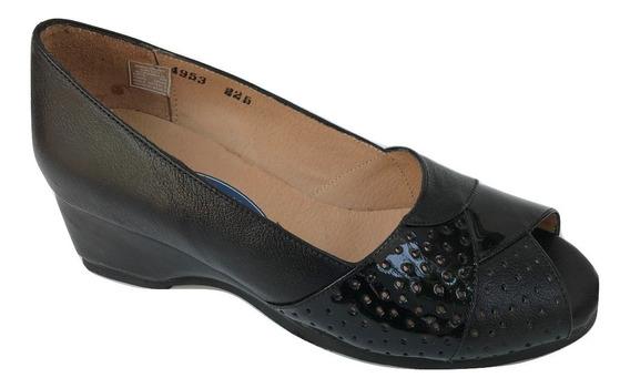 Zapato Zapatilla Ludolfo Cota 4953 Mujer Piel Charol Negro